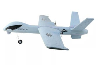 Z51 2.4G 2CH Predator Remote Control RC Airplane 660mm Wingspan Foam Hand Throwing Glider Drone DIY Kit for Kids Beginners - Grey Variant Size Value Grey