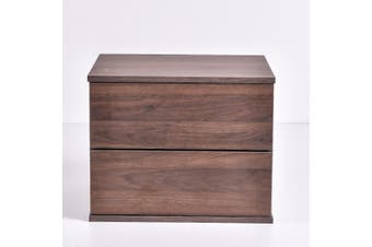 Jupiter Bedside Table - Columbia Walnut