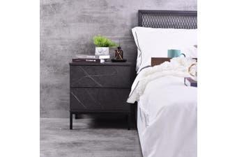 Kensei  Bedside Table - Grey Stone