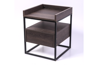 Valley Bedside Table - Antico Wenge