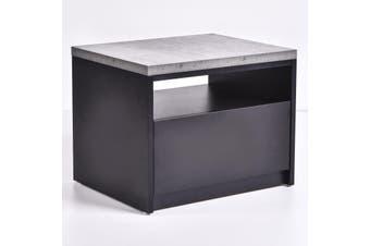 Tanix Bedside Table - Iron slate
