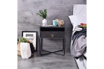 Fredo  Bedside Table - Grey Stone
