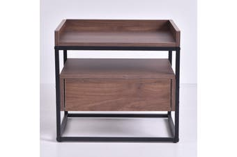 Magino Bedside Table - Columbia Walnut
