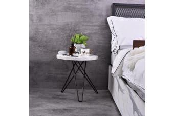 Samson  Bedside Table - Bianco Marble