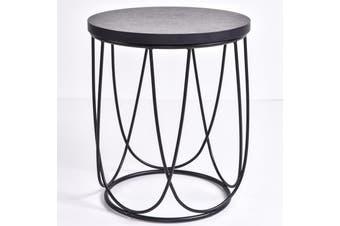 Lencia Bedside Table - Grey Stone