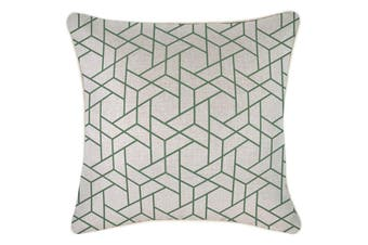 Cushion Cover-With Piping-Milan Green-45cm x 45cm