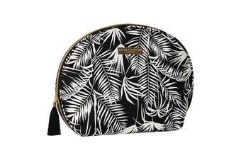 Large Curve Cosmetic Bag-Polynesia Black
