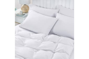 Royal Comfort 2000TC 6 Piece Bamboo Sheet & Quilt Cover Set Cooling Breathable - Queen - White