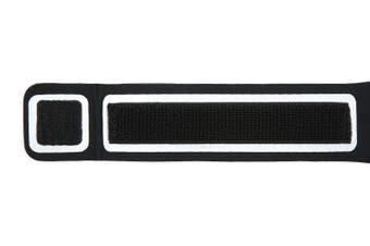 LED Sport Active Biking Glow Night Safety Armband Band w/ Phone Holder - Black