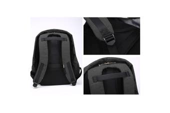 Anti Theft Backpack Waterproof bag School Travel Laptop Bags USB Charging - Black
