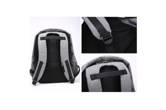 Anti Theft Backpack Waterproof bag School Travel Laptop Bags USB Charging - Grey