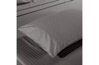 Kensington 1200 Thread Count 100% Egyptian Cotton Sheet Set Stripe Hotel Grade - King - Charcoal