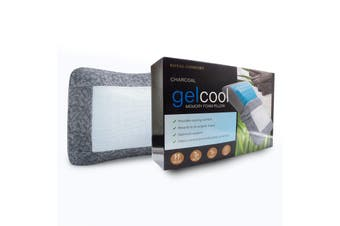 Royal Comfort Cool Gel Charcoal Infused High Density Memory Foam Pillow