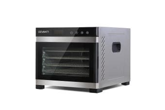 DEVANTi 6 Trays Commercial Food Dehydrator Stainless Steel Fruit Dryer
