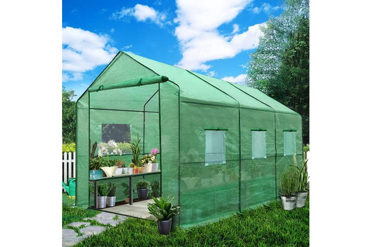 Greenfingers Greenhouse Garden Shed Green House 3.5X2X2M Greenhouses Storage Lawn