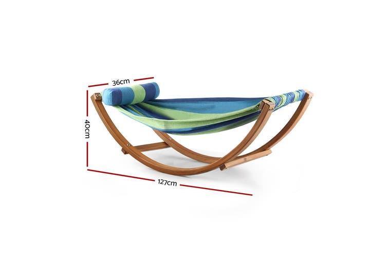 Keezi Kids Timber Hammock Bed Swing - Blue