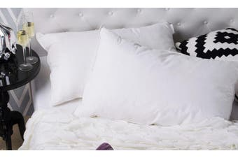 Duck Feather & Down Quilt 500GSM + Duck Feather and Down Pillows 2 Pack Combo - Single - White