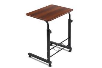 Mobile Twin Laptop Desk - Dark Wood