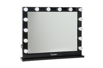 Embellir Make Up Mirror with LED Lights - Black
