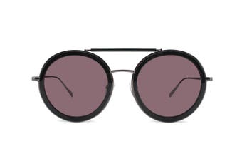 CASTOR BLACK - Round Sunglasses