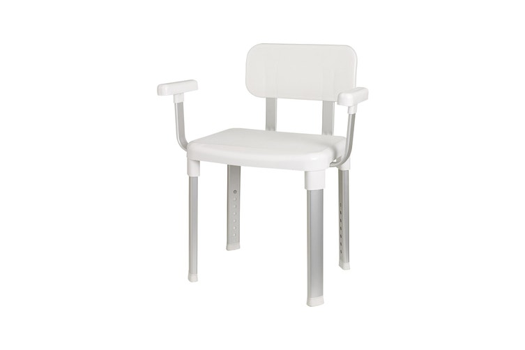 Evekare Delux Bathroom Chair with Back Support and Arm Rests