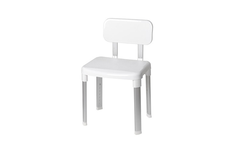 Evekare Deluxe Bathroom Chair with Back Support