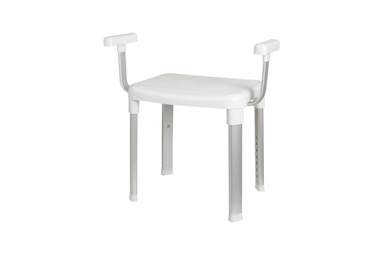 Evekare Deluxe Bathroom Chair with Arm Rests
