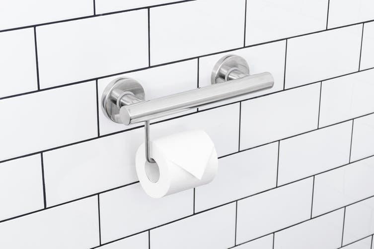 Evekare Toilet Roll Holder Grab Rail Stainless Steel