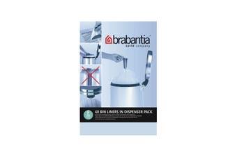 Brabantia Perfectfit Bin Liners Code F 20 Litre Smartfix 40 bags