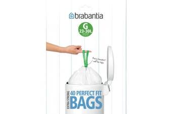 Brabantia Bin Liners, G, 30 Litre, Smartfix
