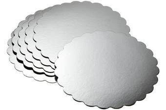 Wilton Silver Cake Platter Round 14 inch Set of 6
