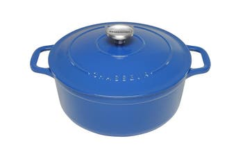 Chasseur Sky Blue Round French Oven 24cm/3.8L