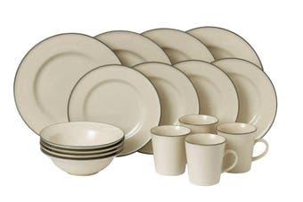 Royal Doulton Gordon Ramsay Union Street Cafe Cream 16pc Dinner Set