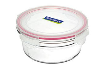 GlassLock Oven Safe Tempered Glass Round Container 450ml