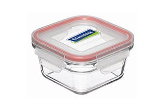 GlassLock Oven Safe Tempered Glass Square Container 405ml