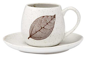 Ashdene Lantana Natural Charcoal Cup and Saucer 250ml