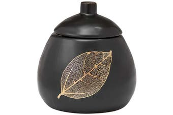 Ashdene Lantana Black and Gold Sugar Bowl 300ml