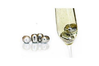D. Line Bartender Stainless Steel Wine Pearls, Set of 4
