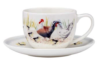 Ashdene Country Chickens Cup and Saucer 250ml