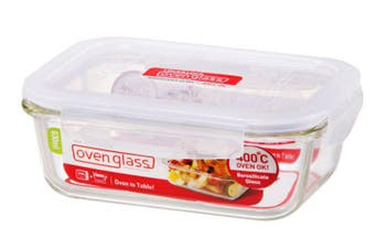 Lock & Lock Euro Glass Rectangular Container 630ml