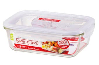 Lock & Lock Euro Glass Rectangular Container 1L
