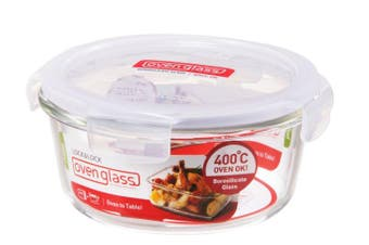 Lock & Lock Euro Glass Round Container 950ml
