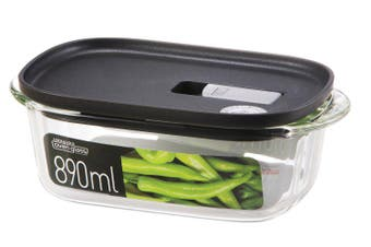 Lock & Lock Modern Steam Glass Rectangular Container 890ml