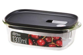 Lock & Lock Modern Steam Glass Rectangular Container 1.3L