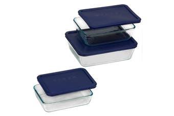 Pyrex Glass Storage Rectangular 6 Piece Set