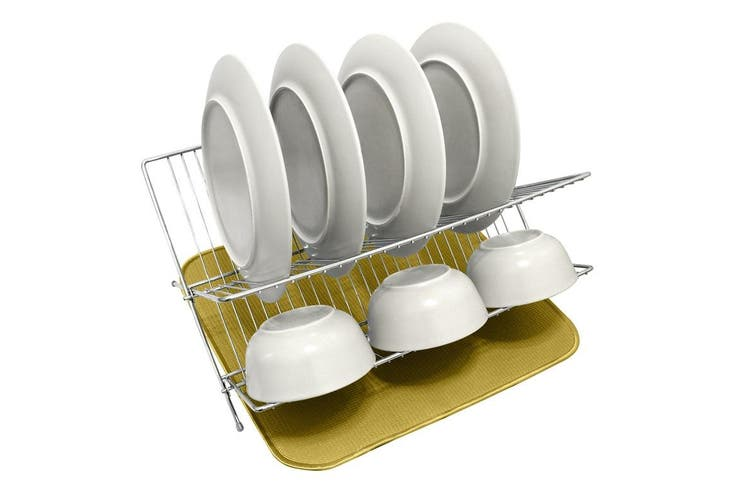 White Magic Eco Cloth Dish Drying Mat Pebble