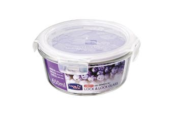 Lock & Lock Euro Glass Round Container 650ml