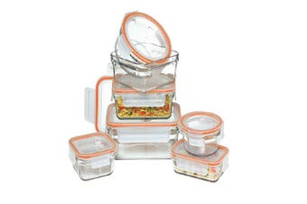 Glasslock 7pc Oven Safe Rimless Container Set