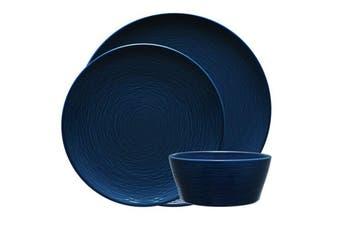 Noritake Navy on Navy Swirl 12 piece Dinner Set