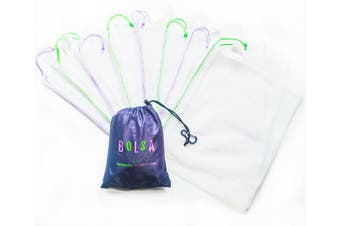 Bolsa Reusable Produce Bags Set of 8 Large and Medium